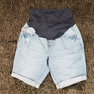Old Navy Maternity Jean Shorts Full Panel